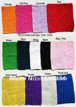 12inches Crochet tube top tutu top 10x12inch crochet headband girls pettiskirt tutu tops free shipping