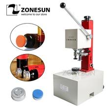 ZONESUN 10 35mm פניצילין בקבוק Capper אנטיביוטיקה בקבוק מלחץ בושם נוזלי פה פתרון חשמלי מכסת מכונה