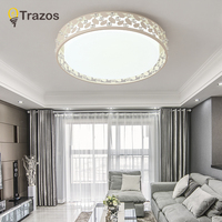 Modern LED Ceiling Lights For Living Room Art Celling Lamps Oval Shape White Dining Room Bedroom Lighting Fixture Lanterns