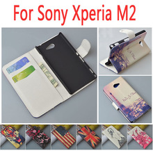 Для Sony Xperia M2 двойной D2302 D2305 S50H/м 2/s 50 h/D 2302 откидная крышка Кожаный чехол SonyD2302 SonyD2305 телефон чехлы