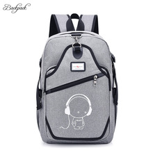New Design USB Charging Backpacks Unisex Casual Travel women Teenagers Student School Bags Cheap Notebook Men Laptop Backpack