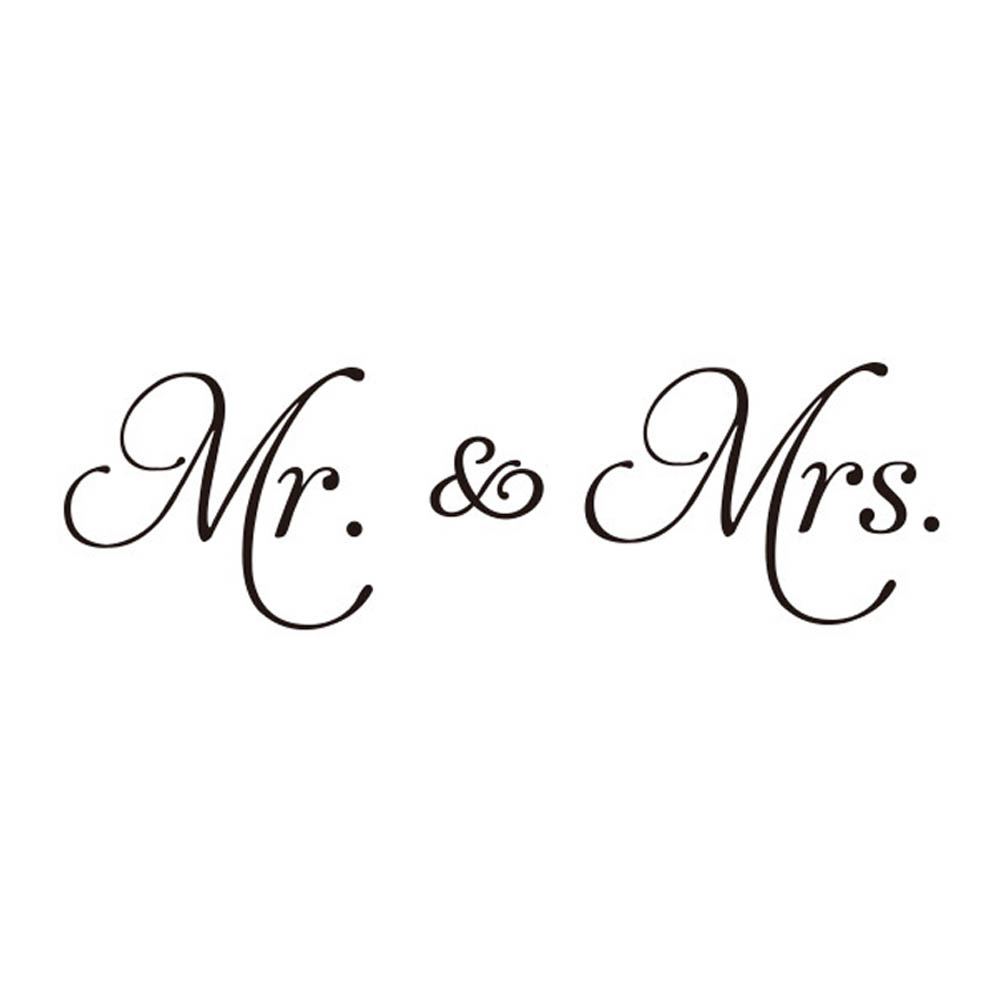 New Couple Mr Amp Mrs Diy Wall Stickers Vinyl Wall Decal