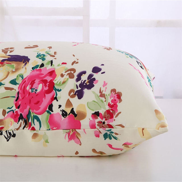 New Free shipping 100% nature mulberry floral silk pillowcase zipper pillowcases pillow case for healthy standard queen king