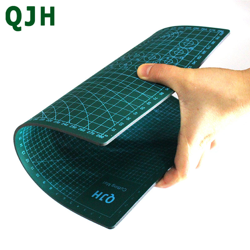 PVC Rectangular Grid Line Cutting Mat Tool Leather DIY Craft Tool Pad with Ruler Tool A3A4 Office Writing Pad Base Plate