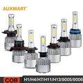 Auxmart H1/H4/H7/H11/H13/9005/9006 COB 72 W LEVOU Farol Do Carro lâmpadas 6500 K 8000LM Farol All-In-One Hi-Lo/Único Feixe lâmpadas de Nevoeiro