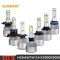Auxmart H1/H4/H7/H11/H13/9005/9006 COB 72W LED Car Headlight Bulbs 6500K 8000LM Headlight All-In-One Hi-Lo/Single Beam Fog lamps
