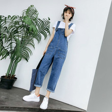 New 2019 Spring Denim Jumpsuits For Womens Jeans Pants Summer Casual Loose Overalls Female