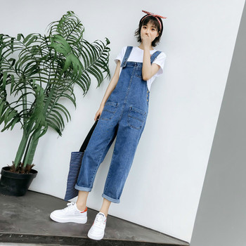 New 2019 Spring Denim Jumpsuits For Womens Jeans Pants Summer Casual Loose Overalls Denim Overalls Female
