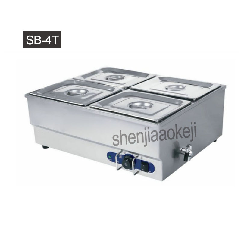 Home Electric Multi-function soup pool Commercial insulation soup pool Stainless Steel Food Warmer Equipment Kitchen Tool 1500w цены