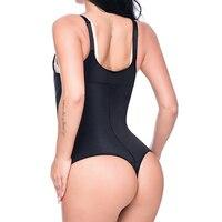 USPS Latex Shaper Bodysuit Women Postpartum Firm Control Thongs Body Briefer Shapewear Adjustable Stap Waist