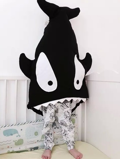 Discount! Cartoon Shark Sleeping Bag Newborns Sleeping Bag Winter Strollers Bed Swaddle Blanket Wrap Cute