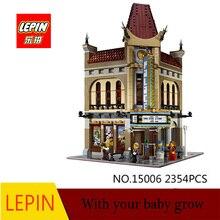 LEPIN 15006 City Street Palace Cinema Model Building Blocks set Bricks Toys Совместимость с 10232