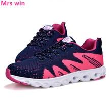 Women sneakers 2017 women running shoes Fly line Damping buffer light Mesh walking Non-slip sport shoes zapatillas mujer