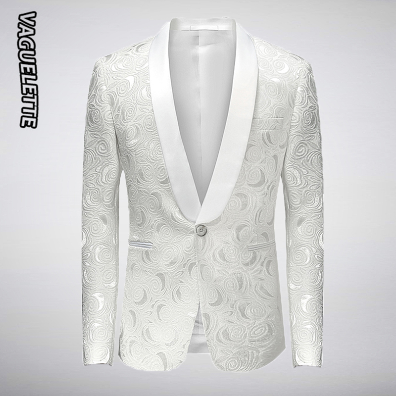 Wedding Gown For Men: Aliexpress.com : Buy White Embroidered Rose Floral Tuxedos