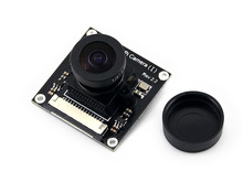 Sale module Waveshare Raspberry Pi Camera (I) for RPi A /B /B+/ 2 B/3 B Adjustable Focal Length Fisheye Lens Wider Field of View modu