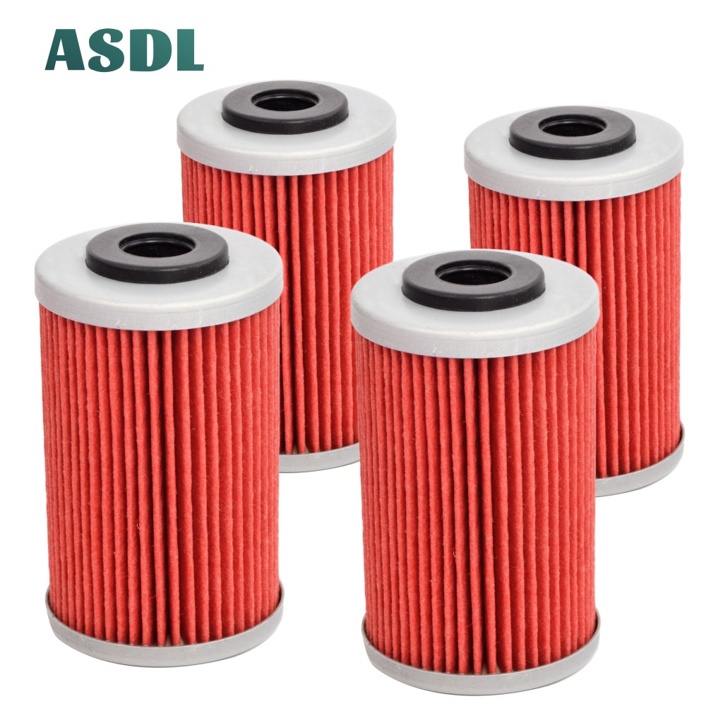 Motorcycle 4pcs Engine Oil Filter Machine Filter For KTM EXCF SXF XCF XCFW EXC XC DUKE 125 250 390 450 500 525 690