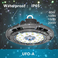 Mining lamp UFO highbay LED industrial lighting 60W100W150W200W waterproof IP65 ceiling light warehouse factory lamp