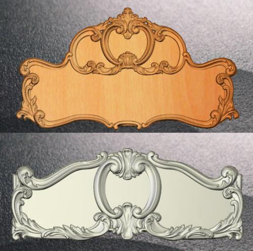 2 STL Bed Wood Furniture 3d Model For CNC Router Engraver Machine Relief Artcam R551