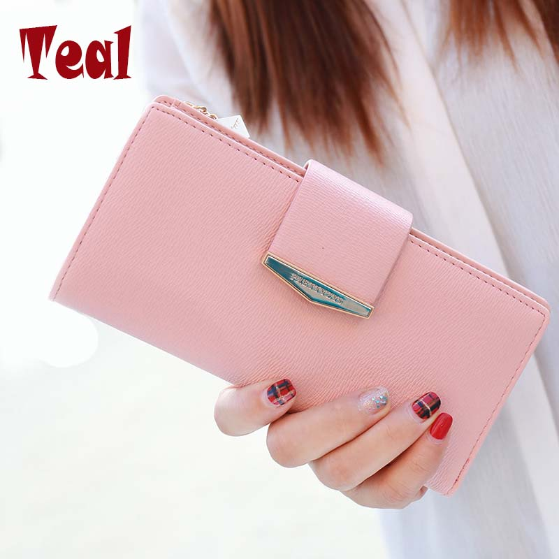 Women Purse Long Wallet Pu Leather Women Wallet Female Card Holder Large Capacity Clutch Bag Brand Design Wallet Fashion fashion flamingo floral print women long wallet large capacity clutch purse phone bag pu leather ladies card holder wallets