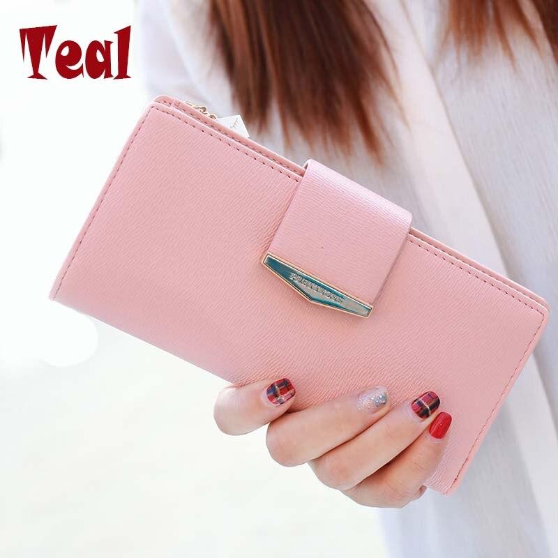 Women Purse Long Wallet Pu Leather Women Wallet Female Card Holder Large Capacity Clutch Bag Brand Design Wallet Fashion