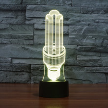 Novelty Led Bulb 3D Illusion Night Light for Children Touch Led Lamp 7 Color Chaning Table Desk Lamps