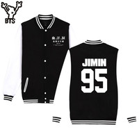 BTS Bangtan Boys Autumn Baseball Jacket Women Full Sleeve Spring Jacket Women JIMIN JIN SUGA Kpop