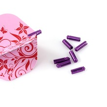 CUESOUL Purple Dart Flight Protector For Steel Tip Darts,Dart Tool