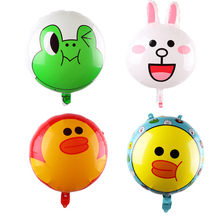 animal Foil Balloons happy birthday party decorations kids baby shower party supplies Duck bunny frog balloon(China)