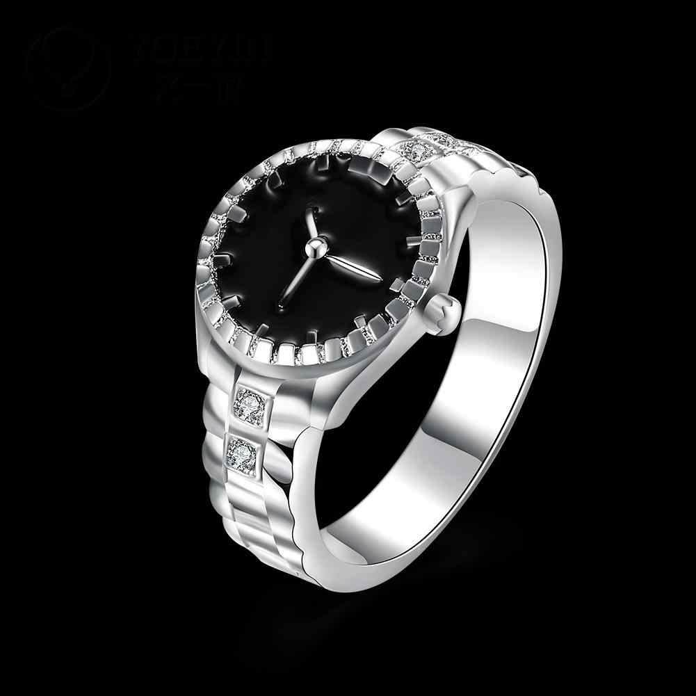 หญิงเงินงานแต่งงานแหวนเครื่องประดับสำหรับสุภาพสตรี anelli Donna ดอกไม้ไม่แพ้หรูหราแหวนแฟชั่น