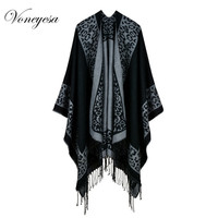 Voneyesa 2017 New Design Women Poncho Shawl Women S Cashmere Printed Leopard Scarves Capes High Quality