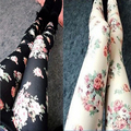 2016 Brand New Hot summer Women rose Leggings female slim thin Nine casual Leggings Lady fashion Imitation cowboy leggings modal