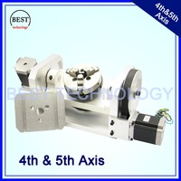 100mm CNC 4th Axis 5th Axis CNC dividing head/Rotation Axis/A axis kit Nema23 for Mini CNC router/engraver woodworking machine