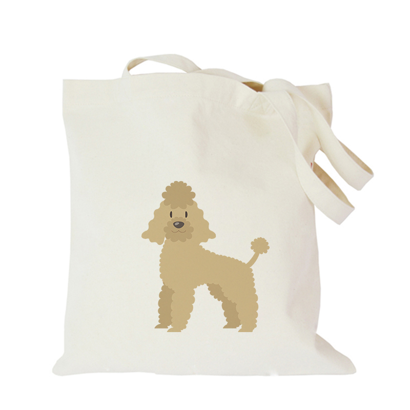 Pet dog series canvas bag custom tote bag customized eco bags custom made shopping bags with logo  Dachshund Shepherd Dog Poodle (6)