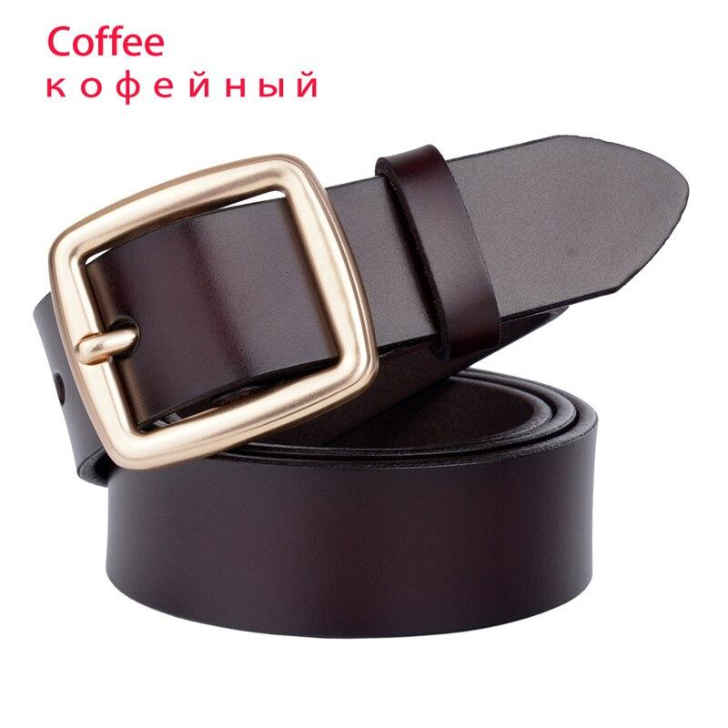 Дизайнер, известный бренд, роскошные ремни, женские ремни, мужской ремень на талию, настоящая воловья кожа, сплав, пряжка, ремень - Цвет: coffee