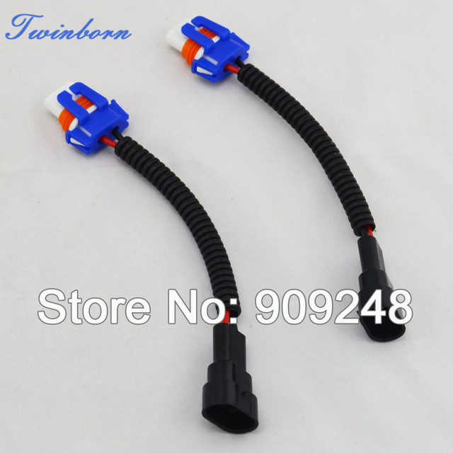 One Pair 9006 HB4 Ceramic Plug And Play Heavy Duty Wiring Harness Sockets W0011*2