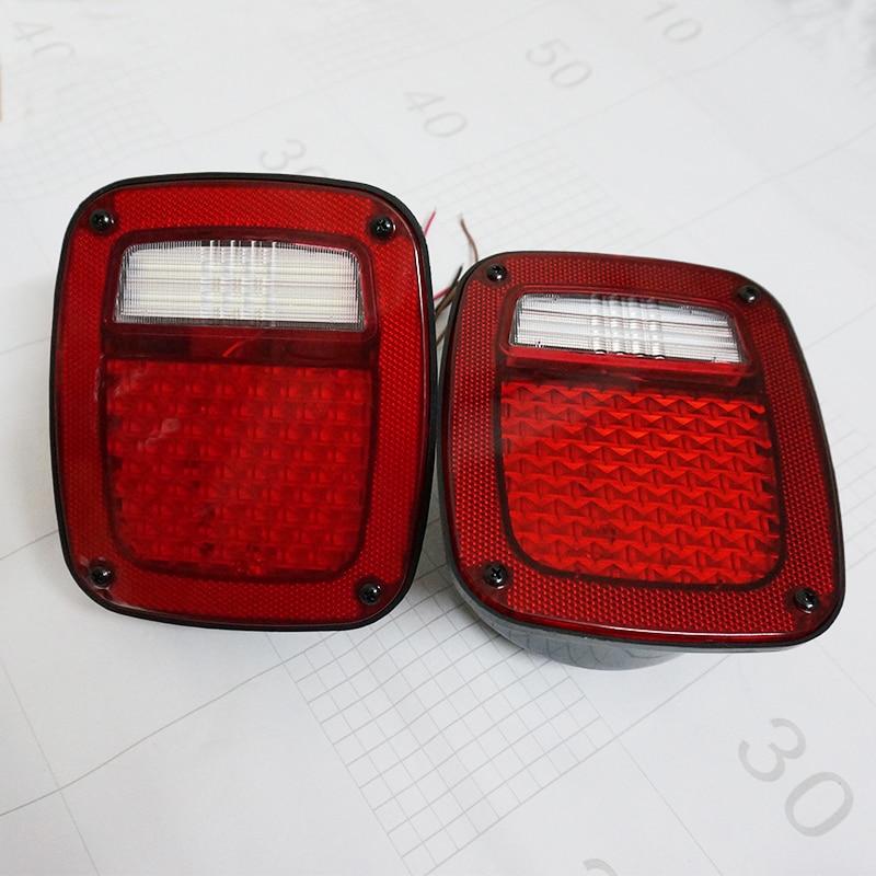 Для Jeep TJ и замена СИДЖЕЯ ый остановка ДК поджав хвост светодиодные фонари красные линзы левый и правый