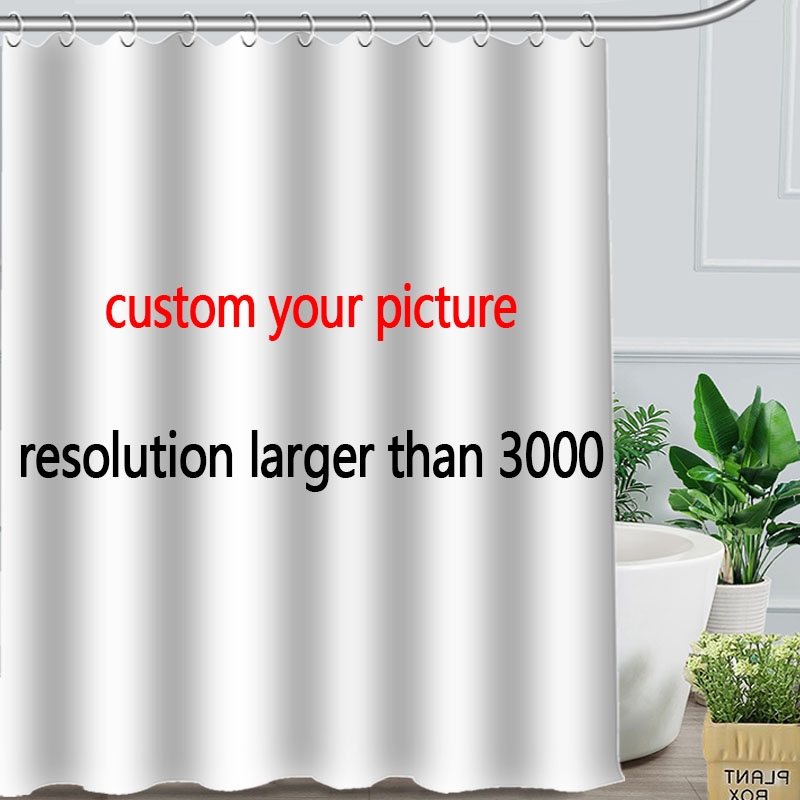 Aliexpress Buy Romantic Beautiful Bamboo Custom Shower Curtain Personalized Fabric Bath Screens From Reliable Screen Suppliers On