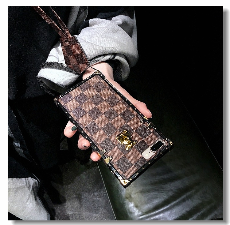 MLR Vintage Luxury TPU Silicon Fashion Square Lattice Phone Cases for Iphone X 6 6S 7 8 Plus Soft Back Cover