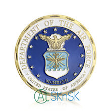 Department Of The Air Force Eagle Challenge Coin Excellence All We Do, Integrity First, Service Before Self, USAF