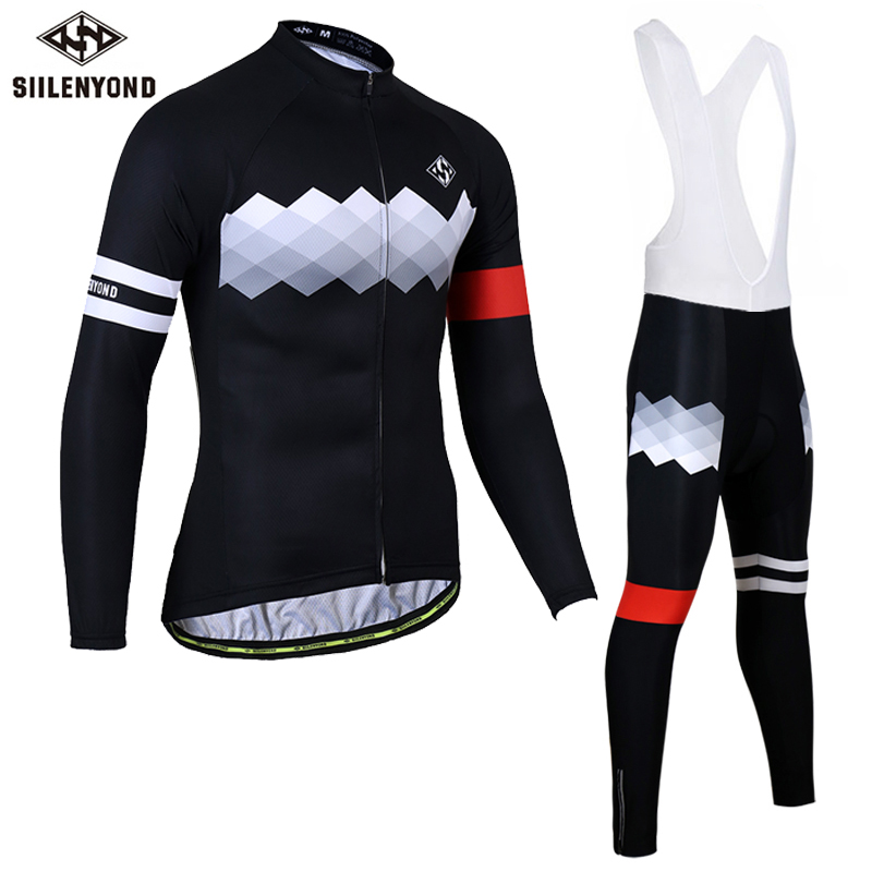 SIILENYOND Gannon 2017 Bike Clothes Set Long Sleeve Pro Cycling Jerseys Bicycle Clothing Set Maillot Equipacion Ropa Ciclismo polyester summer breathable cycling jerseys pro team italia short sleeve bike clothing mtb ropa ciclismo bicycle maillot gel pad
