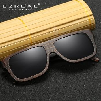 EZREAL Polarized Wood Sunglasses Retro Bamboo Frame Driving Sun Glasses Handmade Wooden Eyewear Glasses For Men Women EZ029 2