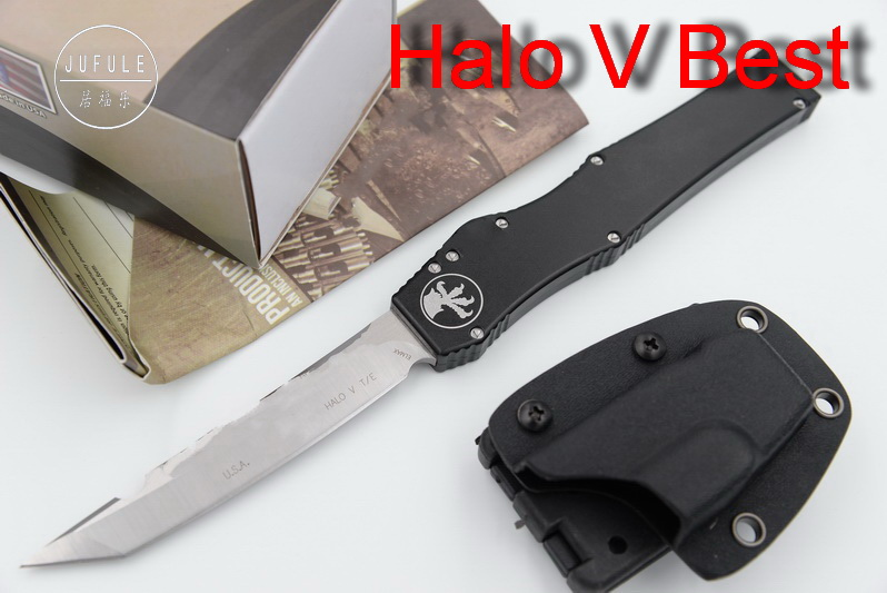 JUFULE Made Halo V 5 Marfione D2 blade aluminum handle camping survival outdoor EDC Tactical hunting tool dinner kitchen knife