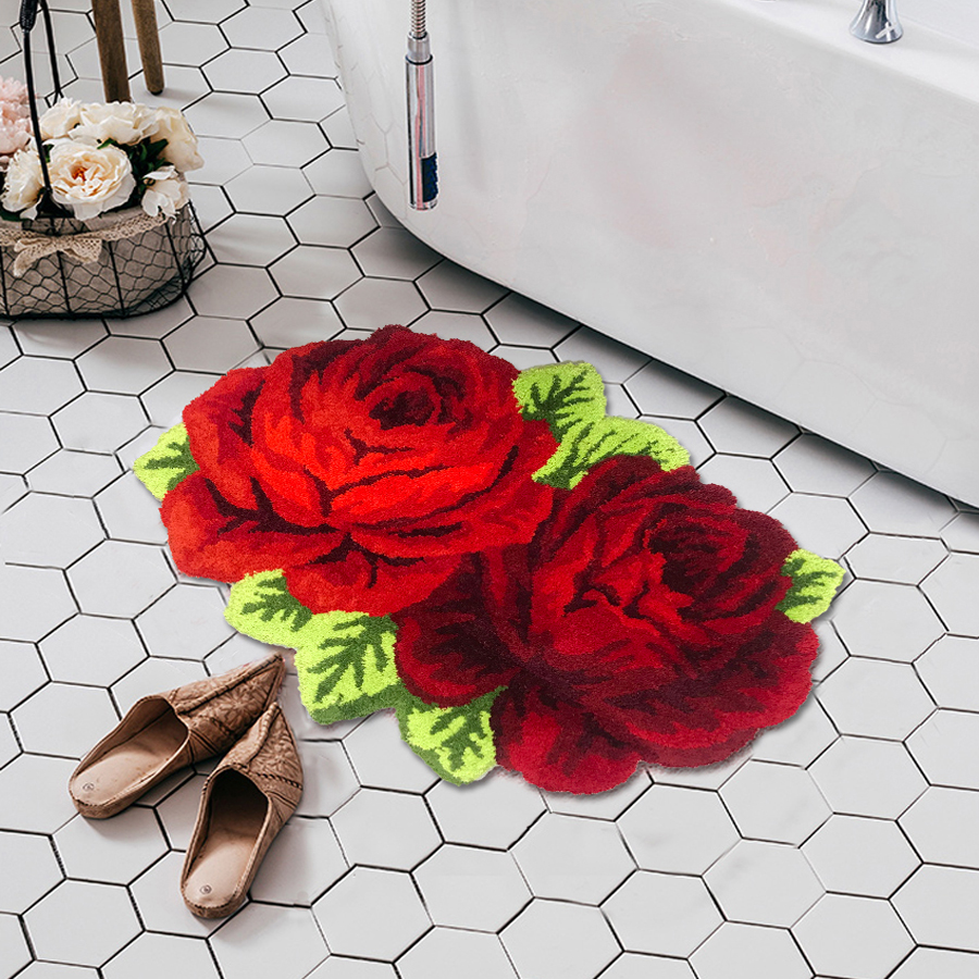 Пушистый Плюшевый красный розовый свадебный ковер мягкий ворсистый микрофибра нескользящий коврик для ванной коврик моющийся абсорбент ковер для гостиной/спальни