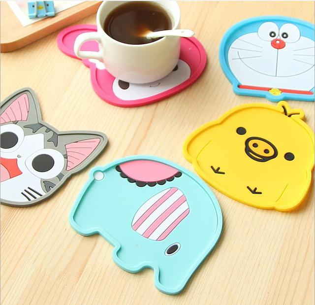 Free Shipping Cute Anime Silicone Coffee Placemat Cartoon