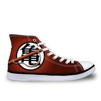 FORUDESIGNS Dragon Ball Z Printed Men Canvas Footwear Men S Vulcanize Shoes Cool Super Saiyan Son