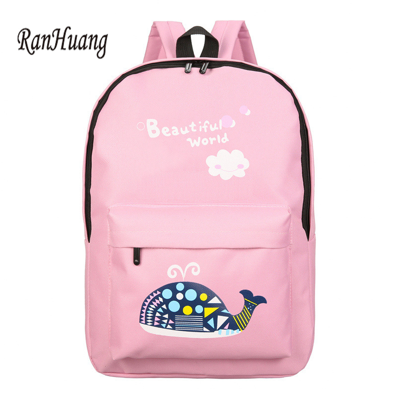 7ba6430e72 New 2017 Preppy Style Women Cartoon Printing Backpack Casual Canvas Backpack  Cute Elephant School Bags For Teenage Girls A640-in Backpacks from Luggage  ...