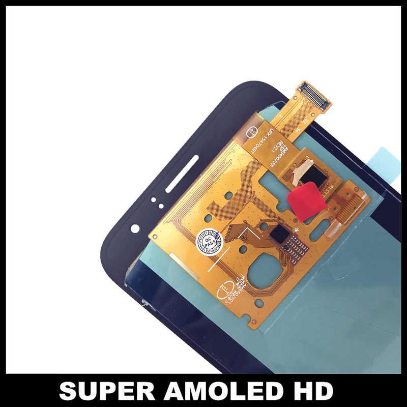 سوبر AMOLED شاشات lcd لسامسونج غالاكسي J120 2016 J120F J120H J120M شاشات Lcd عرض مجموعة المحولات الرقمية لشاشة تعمل بلمس ملصقا استبدال