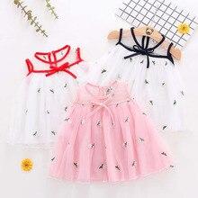 Infant Baby Dress Girl Sleeveless Embroidery  Flower Dresses