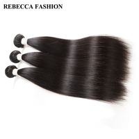 Rebecca Malaysian Straight Hair 3 Bundles Remy Hair Weave 8 To 30 Inch Unprocessed Human Hair