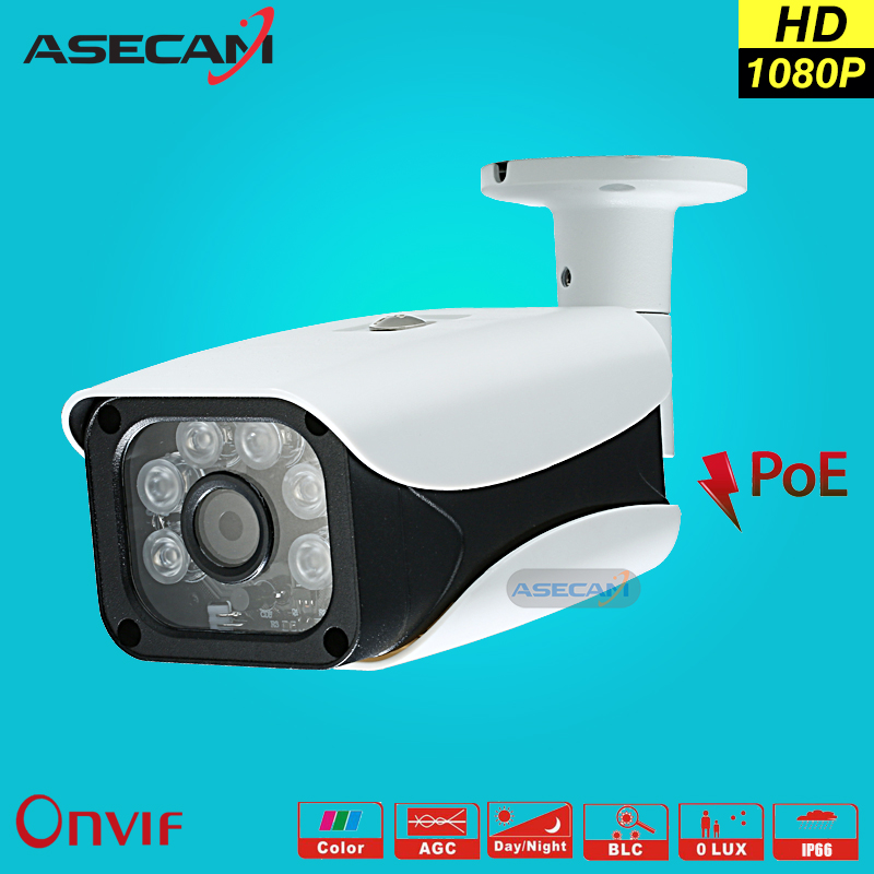 New 2MP IP Camera 1080P poe Security Home CCTV IR Array LED Bullet Metal Waterproof Outdoor Onvif Network Surveillance Camera new model tr ip40ar731l poe 4pc 4mp array 30m ir network bullet security ip camera h264